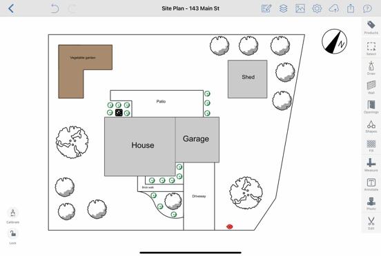 Site Plan in ArcSite
