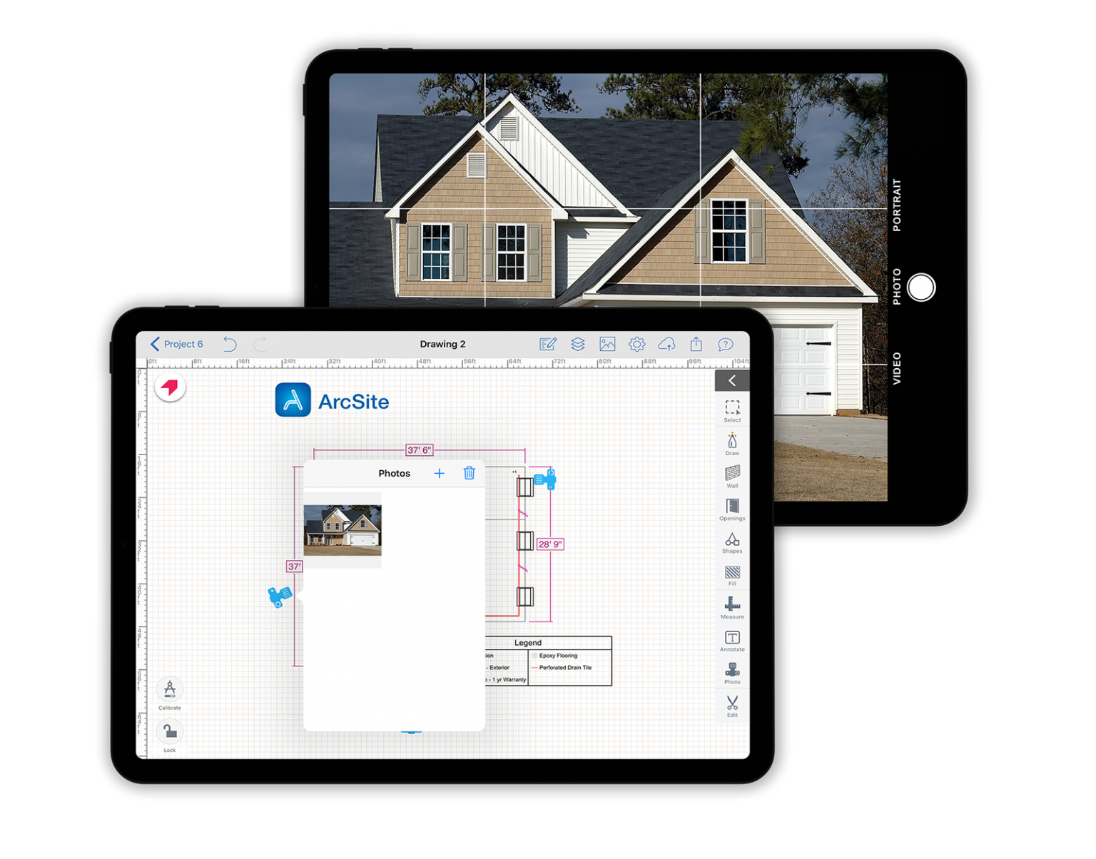 Take site photos from your ipad and directly embed them into your drawing